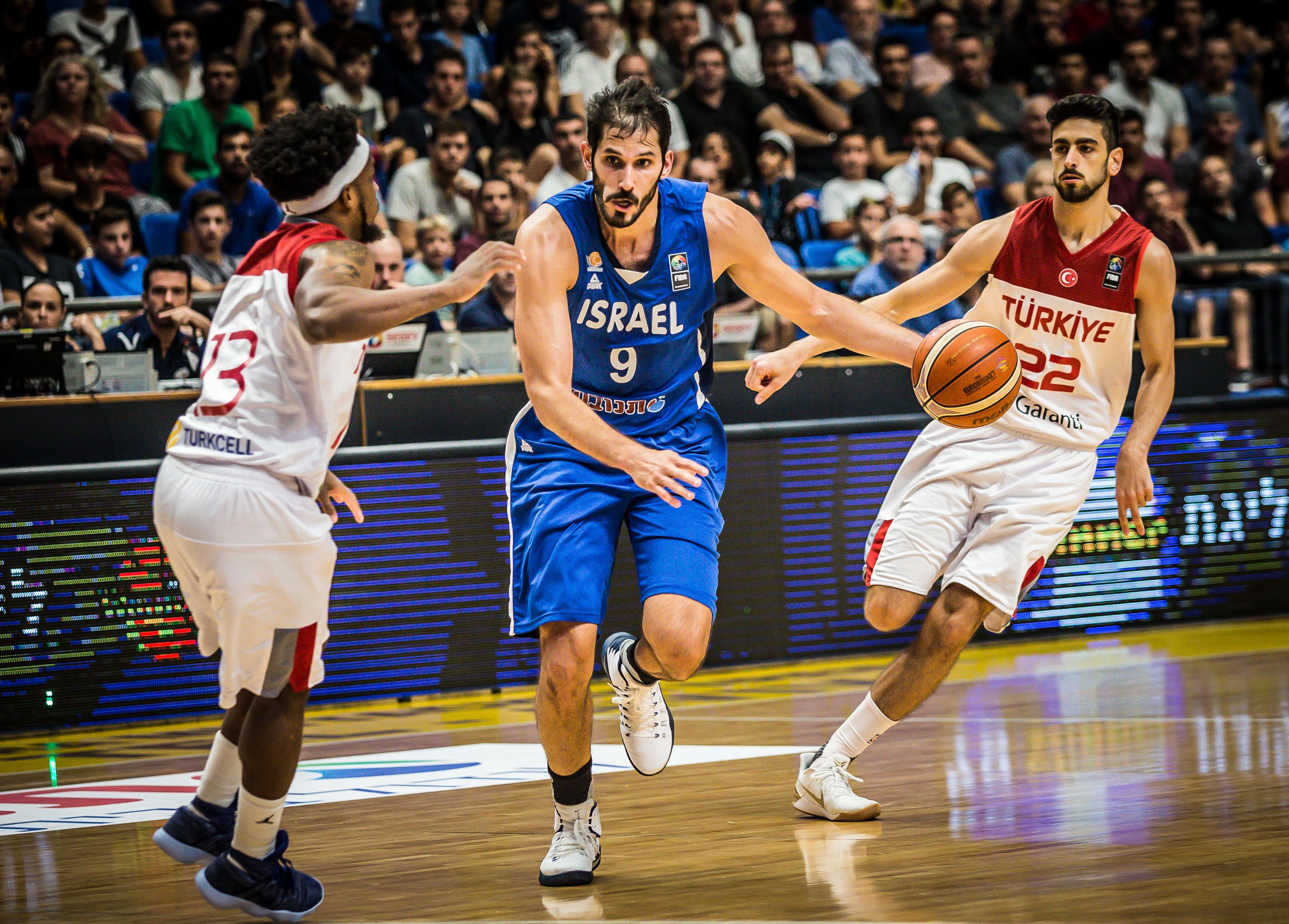 הפסד ראשון לנבחרת ישראל במשחקי ההכנה ליורובאסקט: 84-83 מול טורקיה
