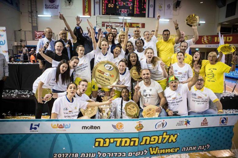 מכבי אשדוד היא אלופת ליגת הנשים לעונת 2017/18; ניצחה את רמלה 76-93 והשלימה 0-3 בסדרת הגמר