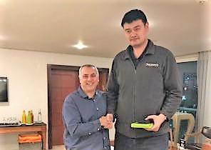 עמוס פרישמן ויאו מינג סיכמו על שיתוף פעולה בין איגוד הכדורסל לאיגוד הסיני