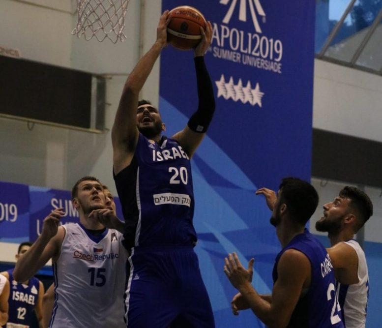 משחקי האוניברסיאדה: ניצחון שני לנבחרת ישראל; גברה על צ'כיה 54-68