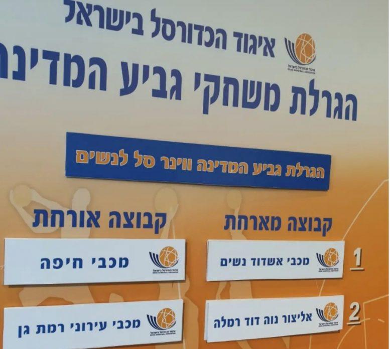 """חצי גמר גביע המדינה לנשים: אשדוד – חיפה; רמלה – ר""""ג"""